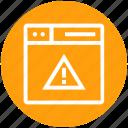 browser, danger, page, warning sign, web, webpage, website
