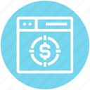browser, dollar, page, target, web, webpage, website