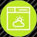 browser, page, sun & cloud, weather, web, webpage, website