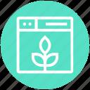 browser, ecology, leaf, page, web, webpage, website