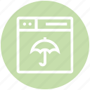browser, insurance, page, umbrella, web, webpage, website