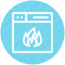 browser, fire, flame, page, web, webpage, website