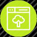 browser, cloud, page, uploading, web, webpage, website