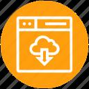 browser, cloud, downloading, page, web, webpage, website