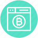 bitcoin, browser, money, page, web, webpage, website