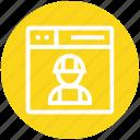 browser, engineer, page, web, webpage, website, worker