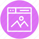 browser, page, photo, picture, web, webpage, website icon