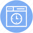 browser, clock, page, time, web, webpage, website