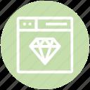 browser, crystal, diamond, page, web, webpage, website