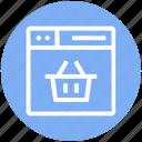 browser, bucket, cart, page, web, webpage, website
