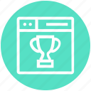 award, browser, cup, page, web, webpage, website