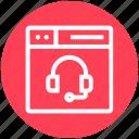 browser, earphone, headphone, page, web, webpage, website