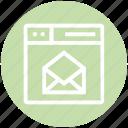 browser, envelope, letter, page, web, webpage, website