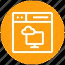 browser, cloud computing, display, page, web, webpage, website