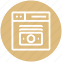 browser, dollar note, money, page, web, webpage, website icon