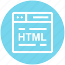 browser, code, html, page, web, webpage, website