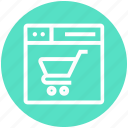 browser, cart, page, shopping, web, webpage, website