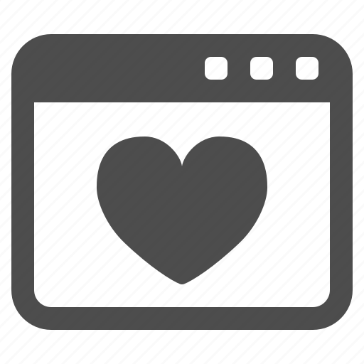 heart, web page, webpage icon