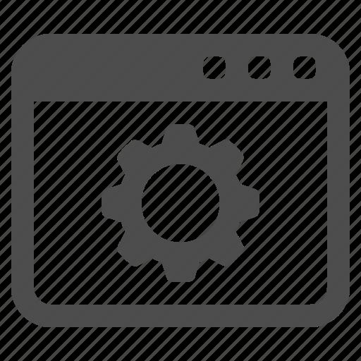 cog, gear, sprocket, web page, webpage, website, window icon