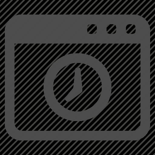 clock, internet, site, tab, web, web page, webpage icon