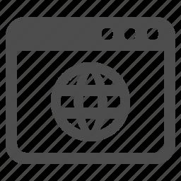 browser, internet, tab, web, web page, webpage, website icon