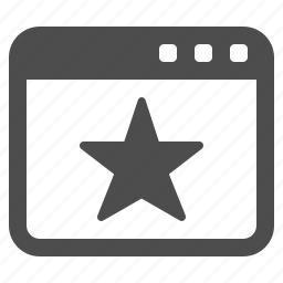 star, tab, web, web page, webpage, website icon