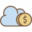 banking, cloud, finance, money, payment icon