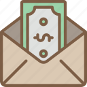 banking, email, finance, money, payment icon