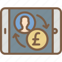 banking, finance, mobile, money, transfer icon