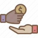 banking, donation, finance, money icon