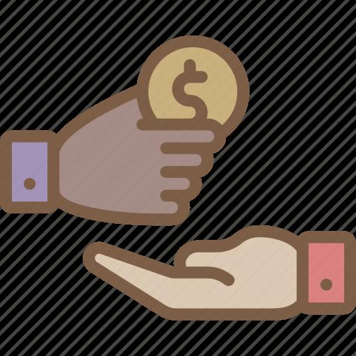 banking, donation, finance, money icon