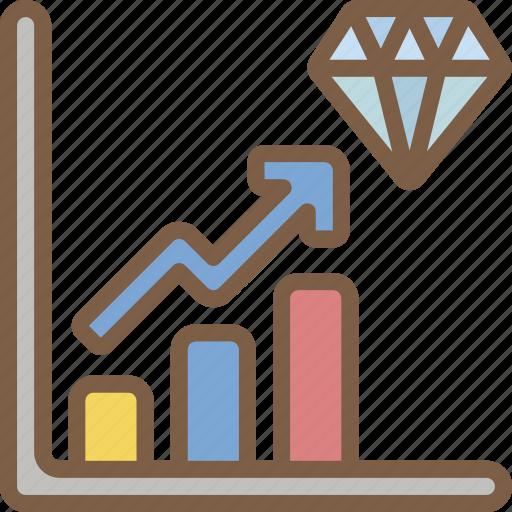 Banking, diamond, finance, money, profit, reserve icon - Download on Iconfinder