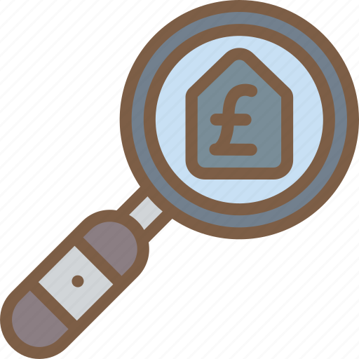 banking, finance, money, mortgage, search icon