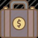 banking, briefcase, finance, money