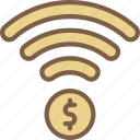 banking, finance, money, payment, wireless icon