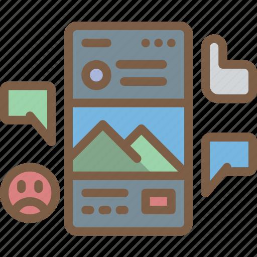 interactions, performance, seo, social, web, web page, web performance icon