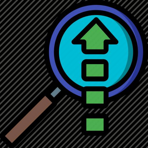 analysis, performance, seo, upload, web, web page, web performance icon