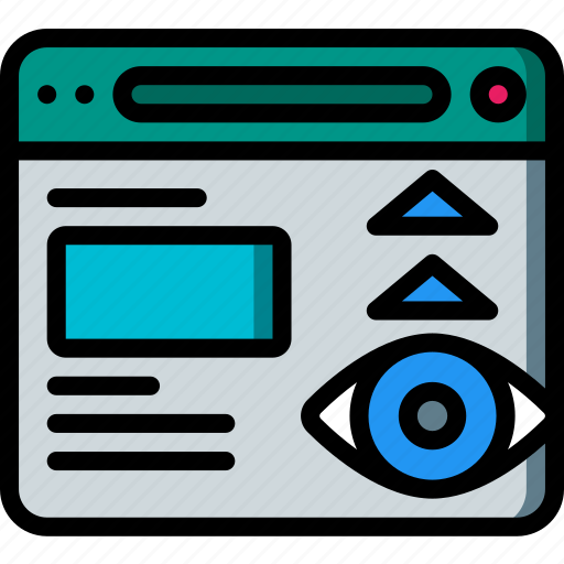 performance, seo, views, web, web page, web performance icon