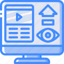 performance, seo, video, views, web, web page, web performance icon