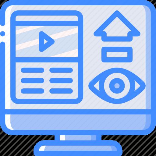 performance, seo, video, views, web, web page, web performance icon