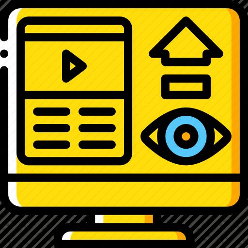 performance, seo, videos, views, web, web page, web performance icon