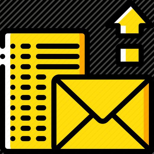 mail, performance, seo, upload, web, web page, web performance icon
