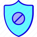 protect, protection, safety, secure, security, shield, warning icon