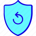 protect, protection, refresh, safety, secure, security, shield icon