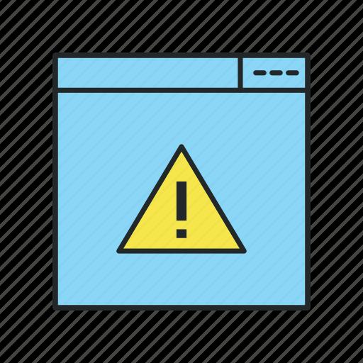 alert, broken, error, glitch, invalid, missing, not icon