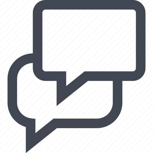 bubble, chat, conversation, facebook, talk icon