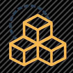 boxes, cube, cubic, design, inspiration, rubik, three icon