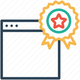 award, badge, bookmark, favorite, star, web, window icon