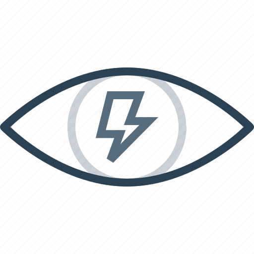 eye, internet, mission, search, thunder, view, web icon