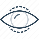 eye, find, future, idea, mission, search, vision icon